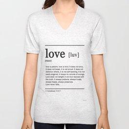 Meaning of Love Unisex V-Neck