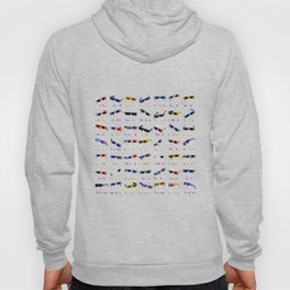 3D Movie Glasses pattern Hoody