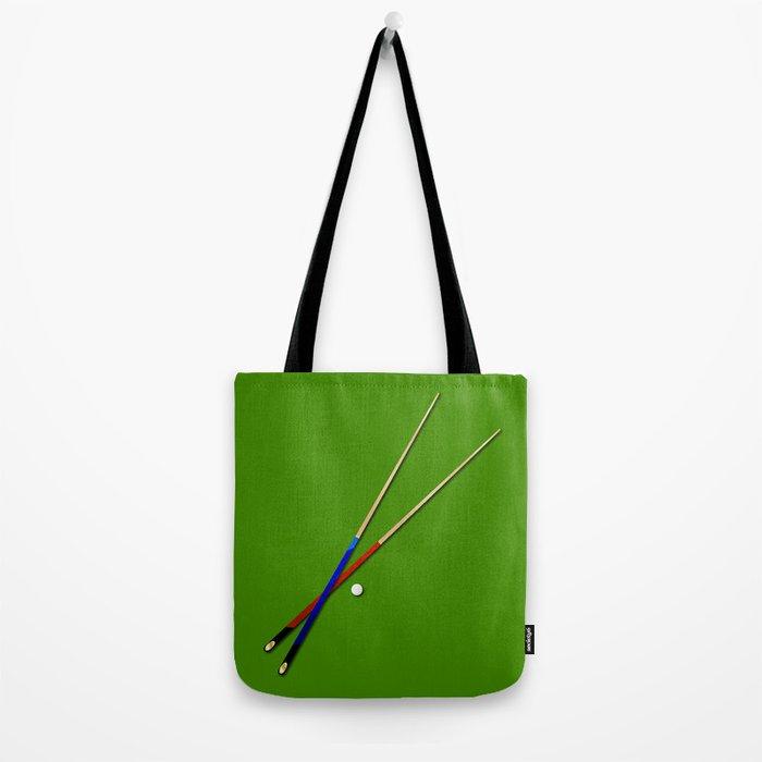 Snooker Cues Tote Bag