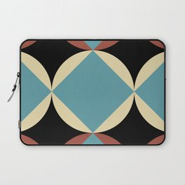 Frontal Fishes with squared blue mouths in a black deep sea. Laptop Sleeve