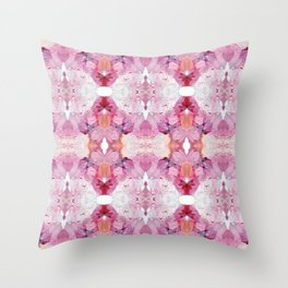 Dreamy Pink Palette (Abstract Painting) Throw Pillow