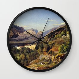 Ferdinand Georg Waldmüller Mountains of Arco at Riva Wall Clock