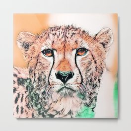 Animal ArtStudio 1520 Cheetah Metal Print
