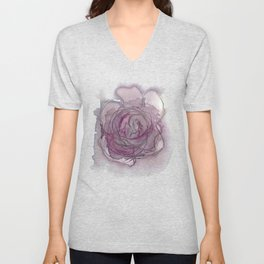 Rose - Abstract Watercolour Unisex V-Neck