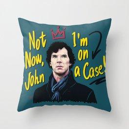 Sherlock on a Case Throw Pillow