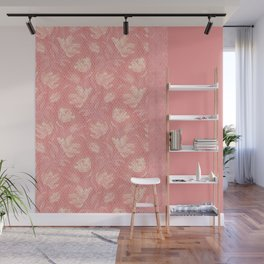 Laced pink Wall Mural