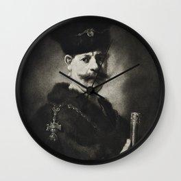 Portrait of a Polish Noble Wall Clock