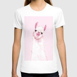 Llama Pink T-shirt