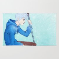 jack frost Area & Throw Rugs featuring Jack Frost by ribkaDory