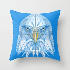 Blue Eagle Throw Pillow