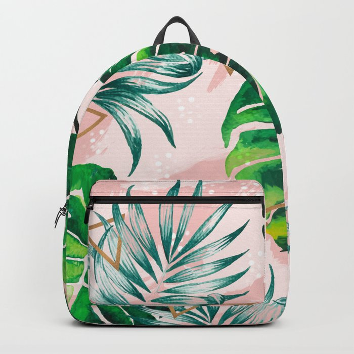 Pineapple plants and triangles Backpack