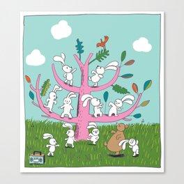 rabbit moves Canvas Print