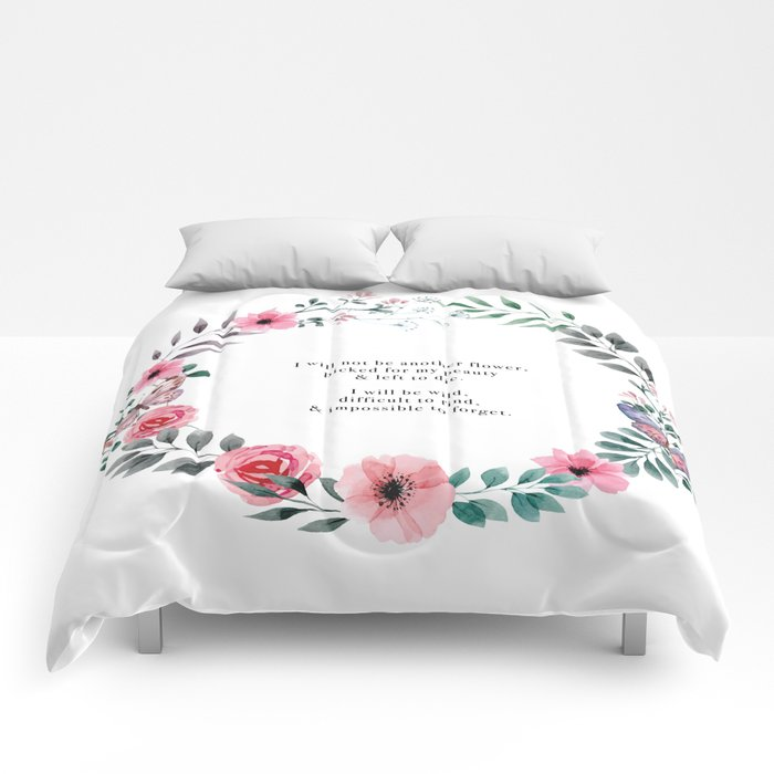 Not Another Flower Comforters