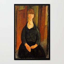 Amadeo Clemente Modigliani - Flower vendor (1919) Canvas Print