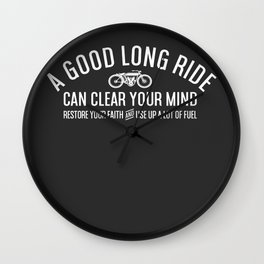 Long Ride Wall Clock