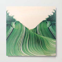 Malachite Waves Metal Print
