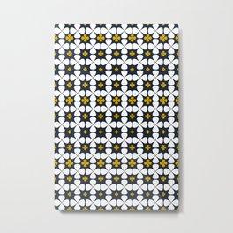 At home: geometric flowers, 70th Lifestyle Metal Print