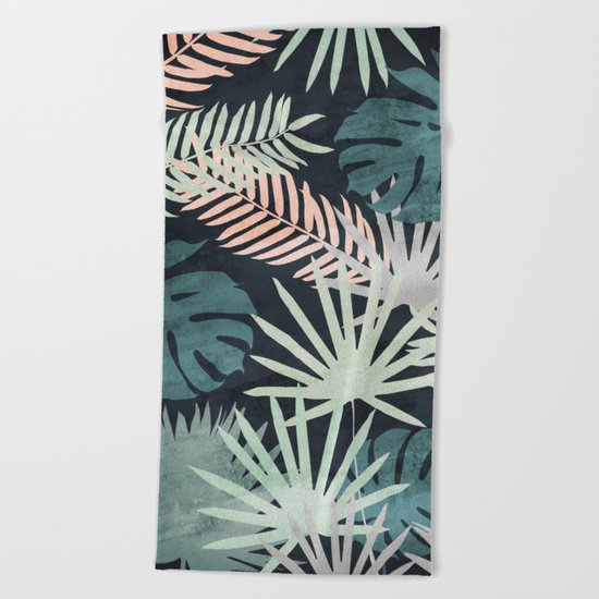 Tropicalia Night Beach Towel