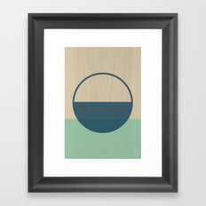 Half Circle Framed Art Print