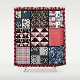 Favorite blanket and pillows . Patchwork 1 Shower Curtain