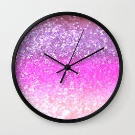 Unicorn Girls Glitter #1 #shiny #decor #art #society6 Wall Clock
