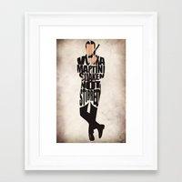 james bond Framed Art Prints featuring James Bond by A Deniz Akerman