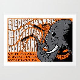 Elephant concert poster Art Print
