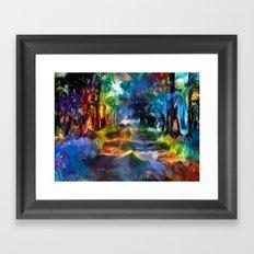 Route coloré Framed Art Print