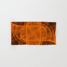 Eternal Rounded Cross in Orange Brown Hand & Bath Towel