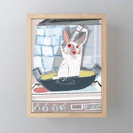 Paella with Hare Framed Mini Art Print