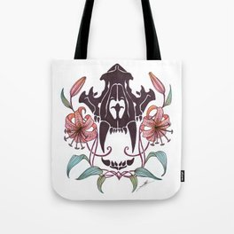 Tiger and Lillies Tote Bag