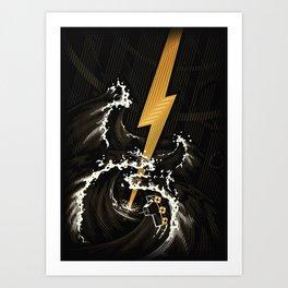 Electric Guitar Storm Art Print