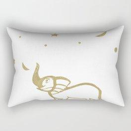 Elephant Fun #1 #gold #drawing #decor #art #society6 Rectangular Pillow