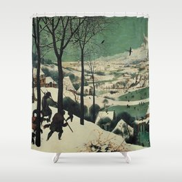 HUNTERS IN THE SNOW - BRUEGEL Shower Curtain