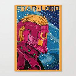 Starlord Guardians of the galaxy Canvas Print