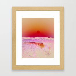POSITIVE NEGATIVE NATURE Framed Art Print