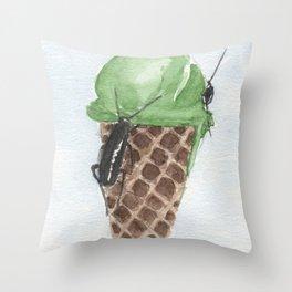 ice cream pistachio Throw Pillow