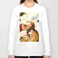 django Long Sleeve T-shirts featuring Django Reinhardt by Daniella Birtley