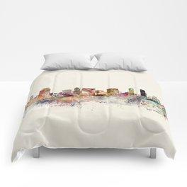 san diego skyline Comforters