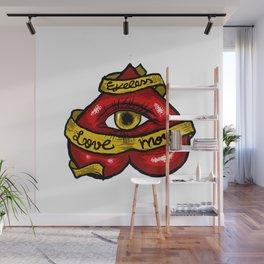 """""""Eyeless love more"""" Wall Mural"""