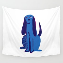 blue pup  Wall Tapestry