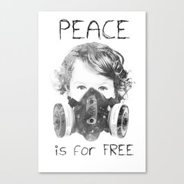 Peace is for Free Canvas Print