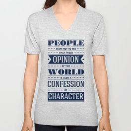 Lab No. 4 People Seem Not to Ralph Waldo Emerson Inspirational Quote Unisex V-Neck
