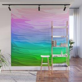 Rainbow Layers Wall Mural