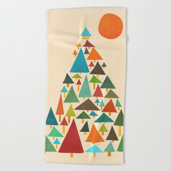The house at the pine forest Beach Towel
