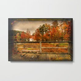 Autumn Colors in the Swamp Metal Print