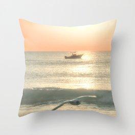 Fishermans Sunrise 4 by Murray Bolesta Throw Pillow