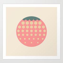 strawberry || retro dusty Kunstdrucke