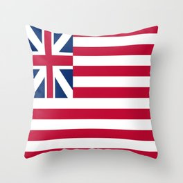 Historical flag of the USA: grand union flag Throw Pillow