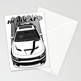 Dodge Charger Hellcat - Dark Transparent/Multi Color Stationery Cards